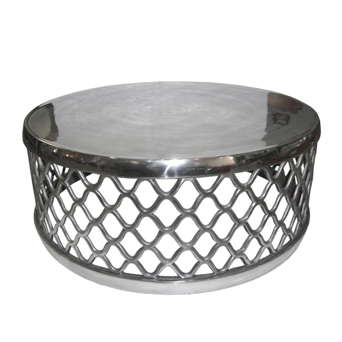 Modern Honeycomb Aluminium Round Coffee Table