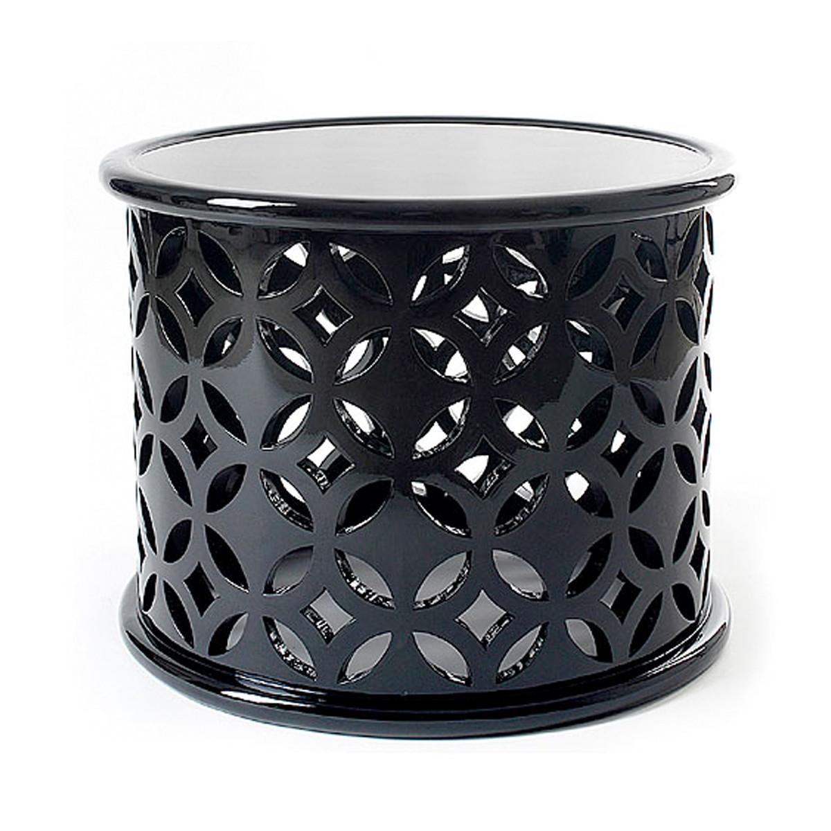 Black Solitaire Aluminium Side Table