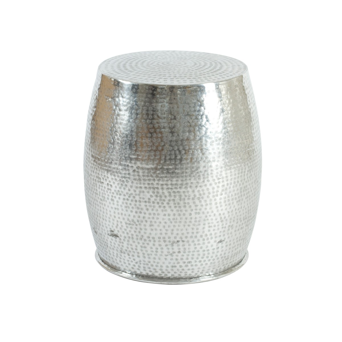 Hammered Cylindrical Aluminium side Table