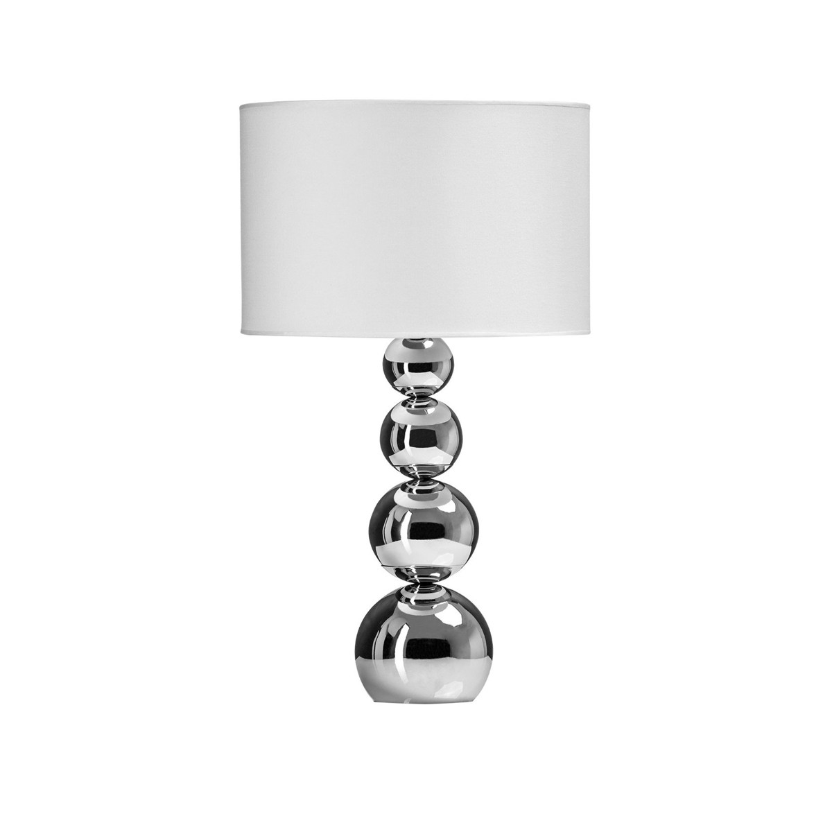 Rise - Chrome Table Lamp with White Shade