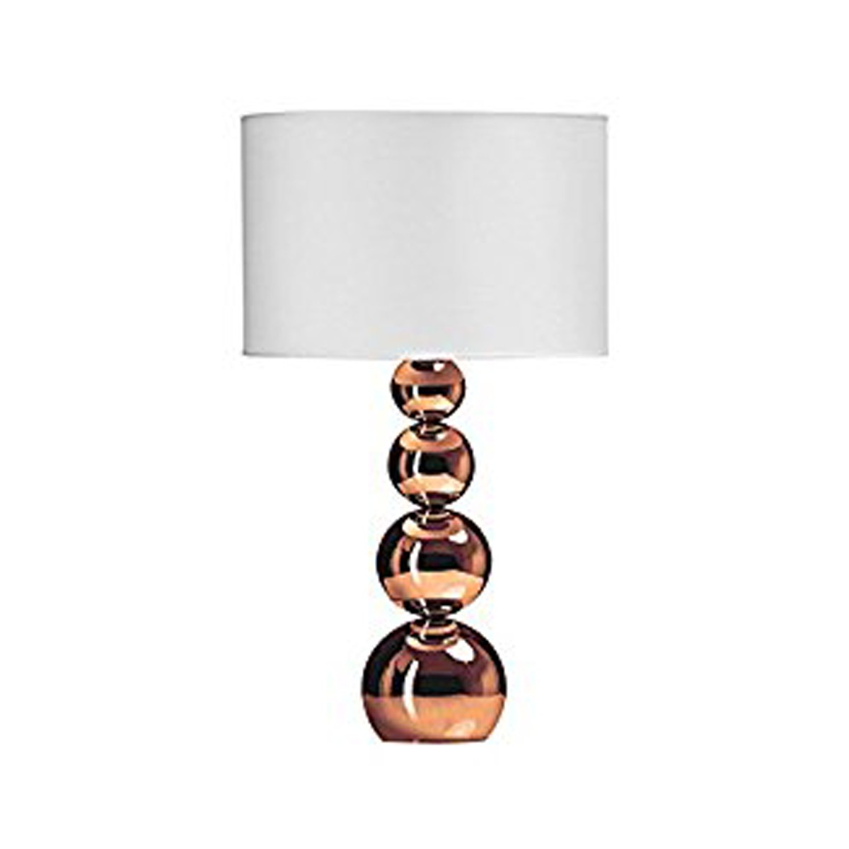 Copper Effect Balls Table Lamp with White Shade