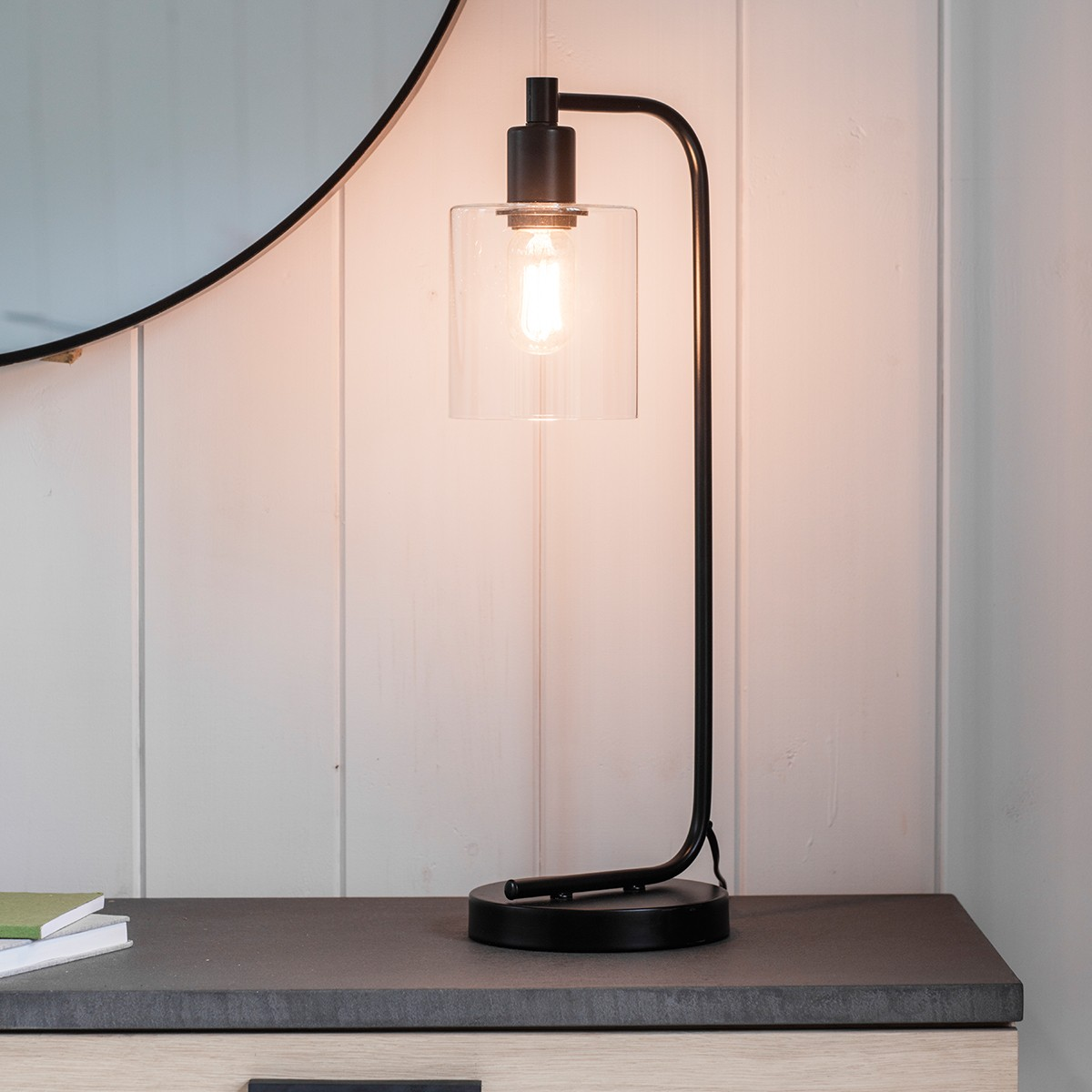 Scandi Black Table Lamp