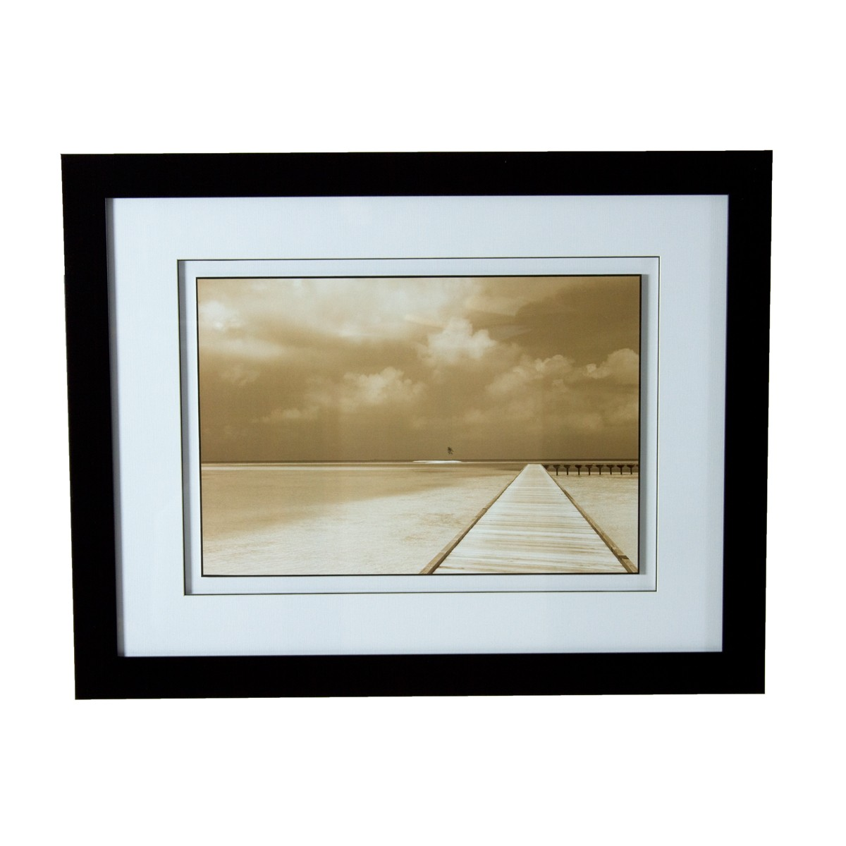 Bliss Print with Glass Frame Wall Art