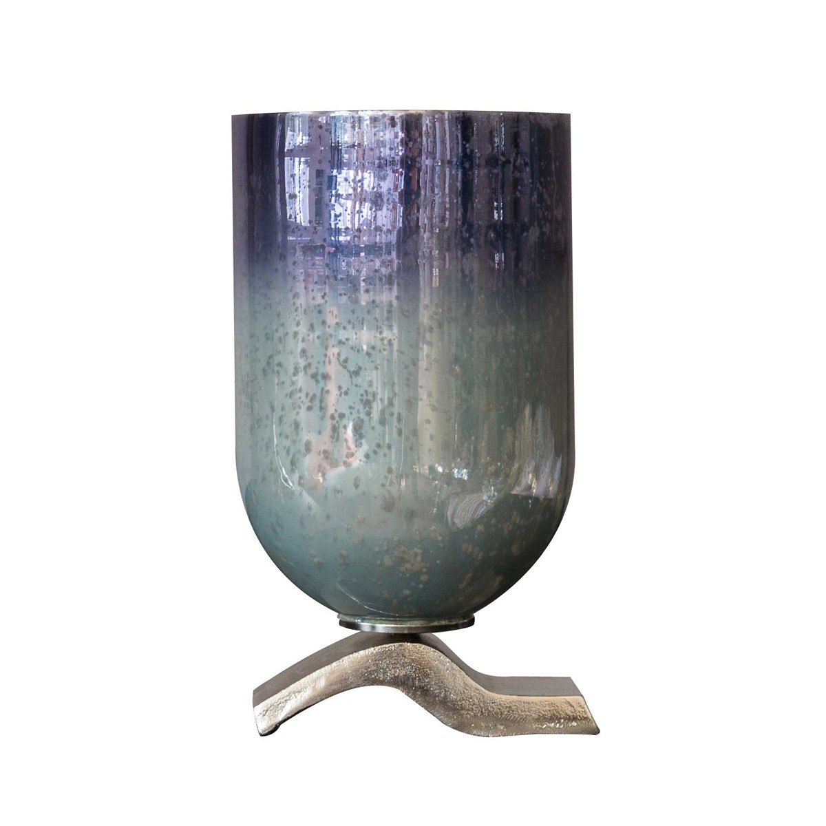 Blue Moon Small - Pillar Holder Aluminium and Glass