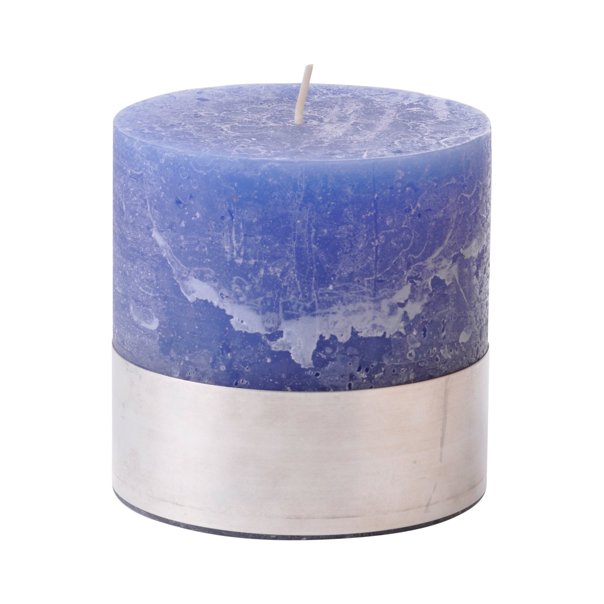 Angel Blue Small - Blue Pillar Candle