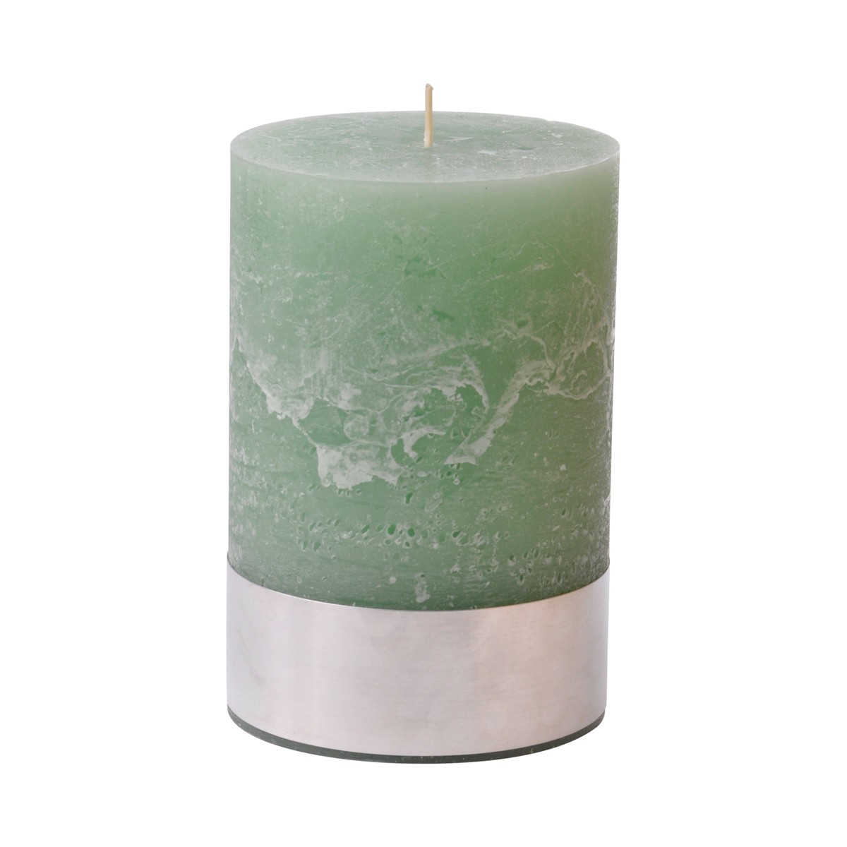 Angel Moss Medium - Light Green Pillar Candle