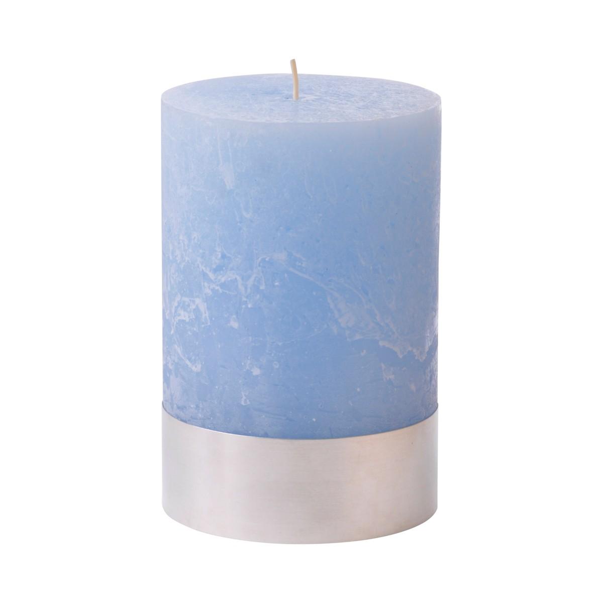 Light Blue Pillar Candle Medium