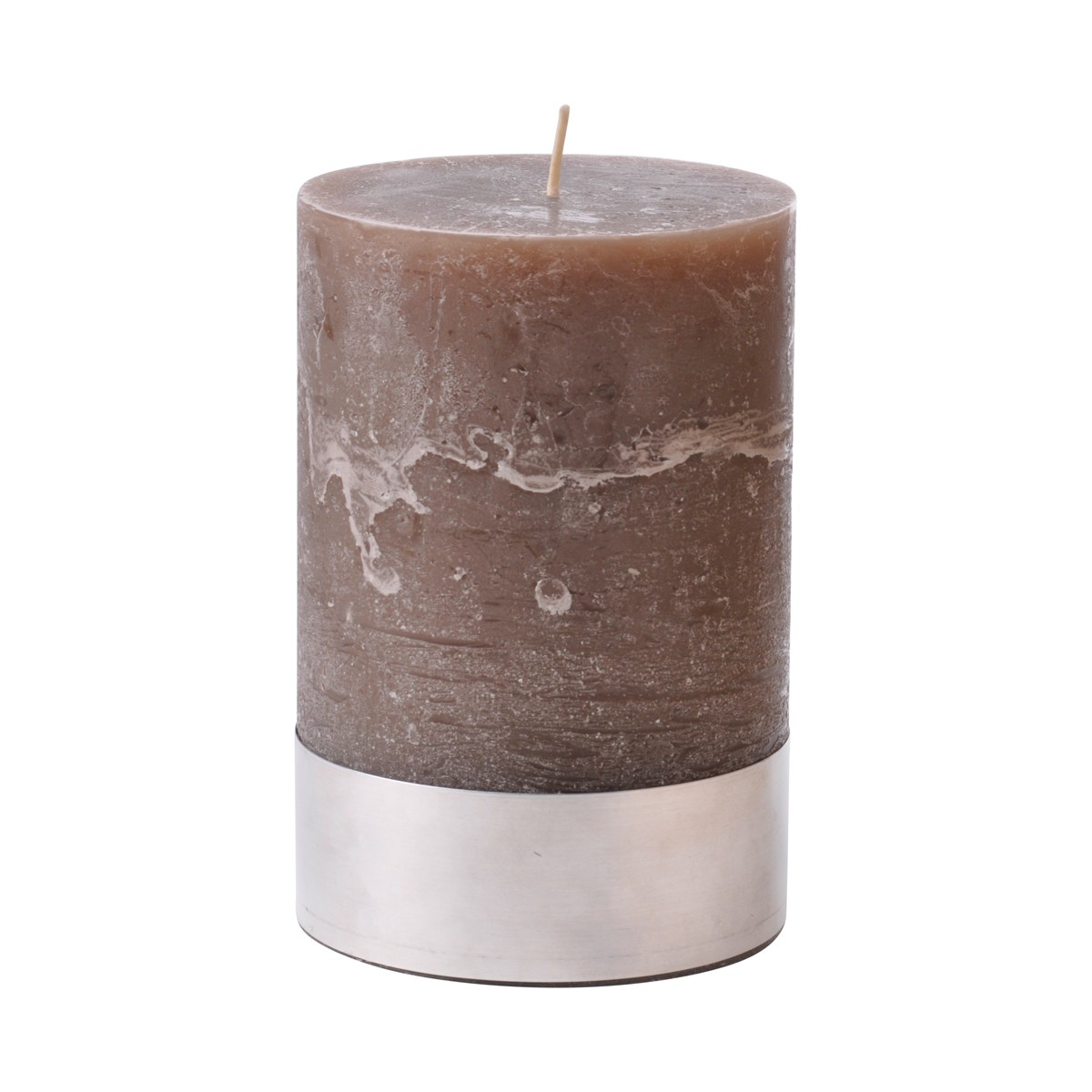 Angel Mud Medium - Beige Pillar Candle