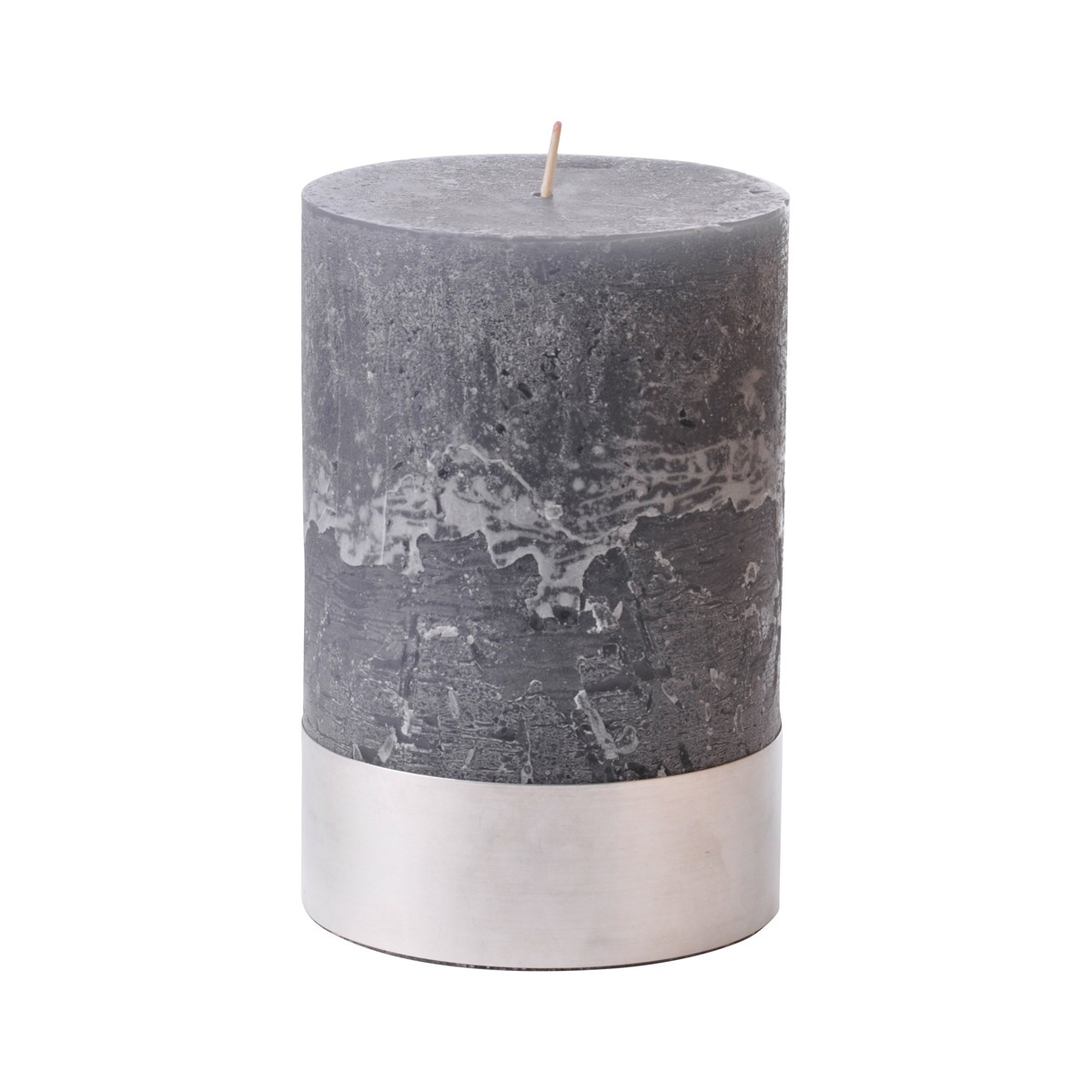 Angel Dove Medium - Dark Grey Pillar Candle
