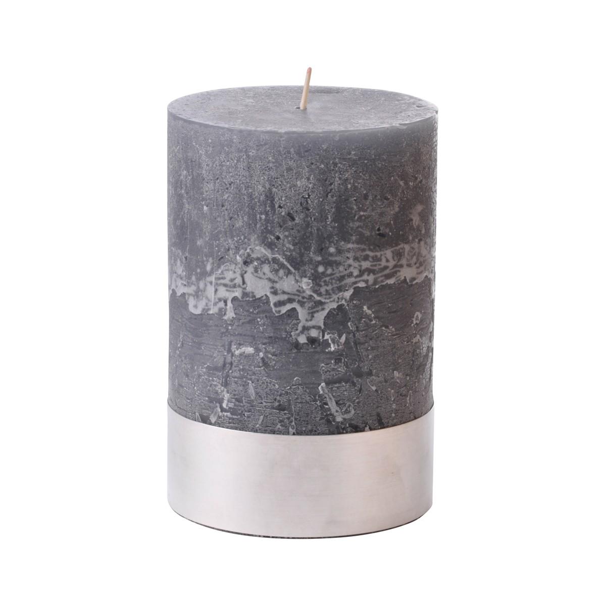 Angel Dove Medium - Dark Grey Pillar Candle