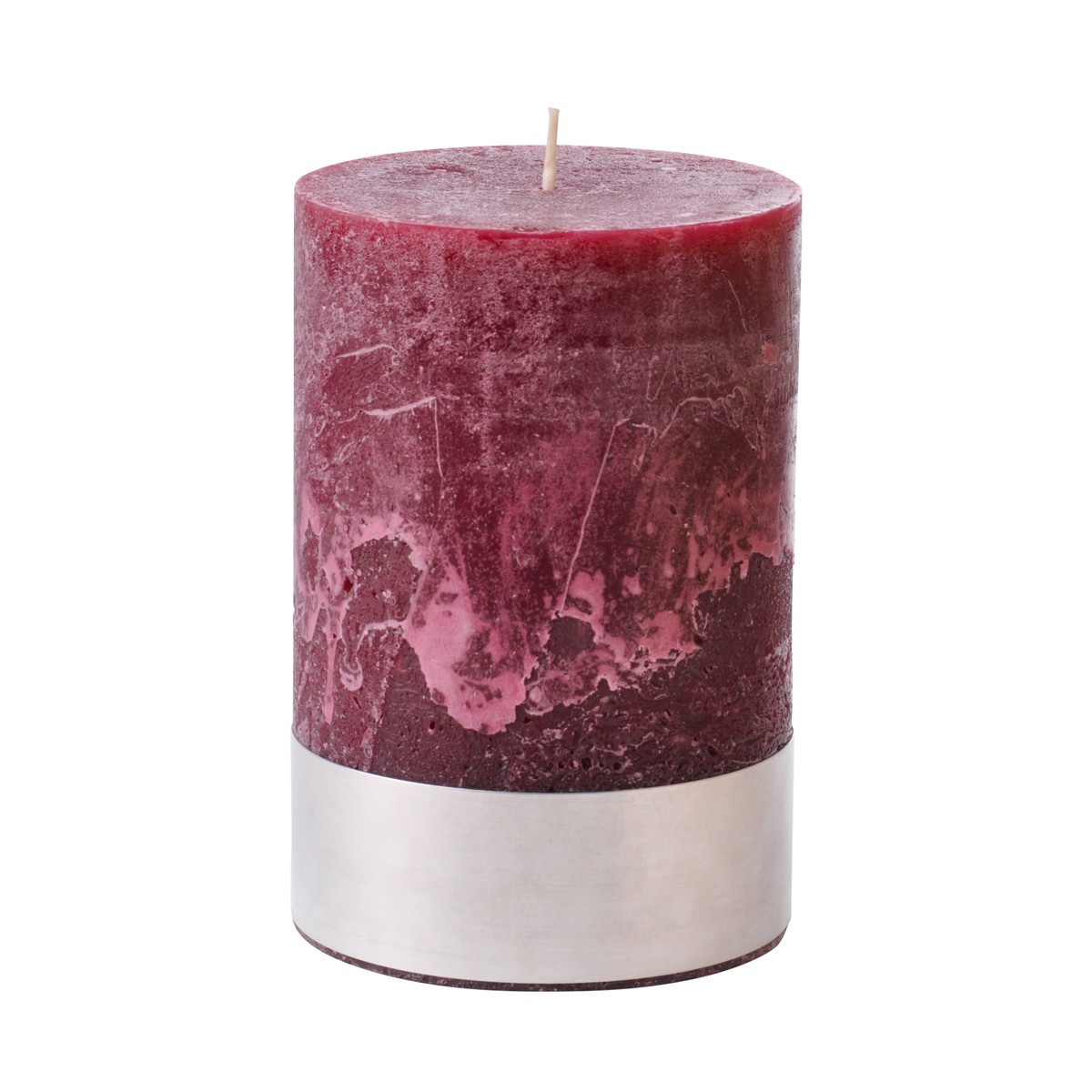 Medium Bordeaux Pillar Candle