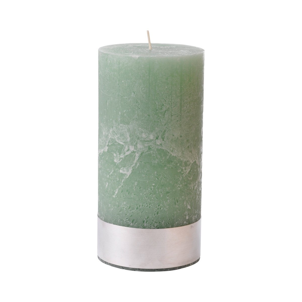 Light Green Pillar Candle Large