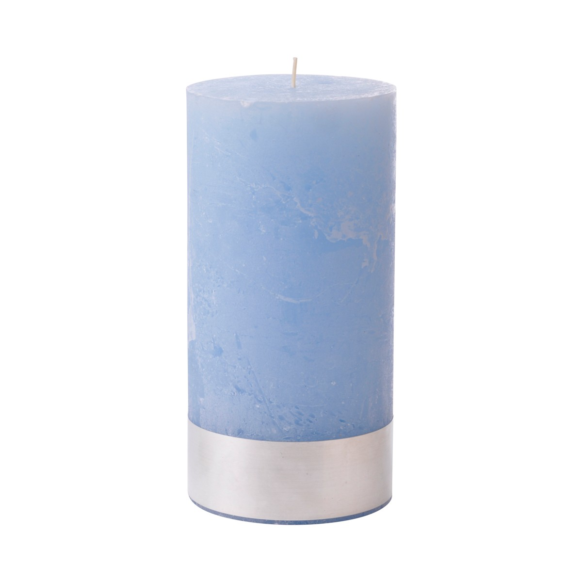 Light Blue Pillar Candle Large