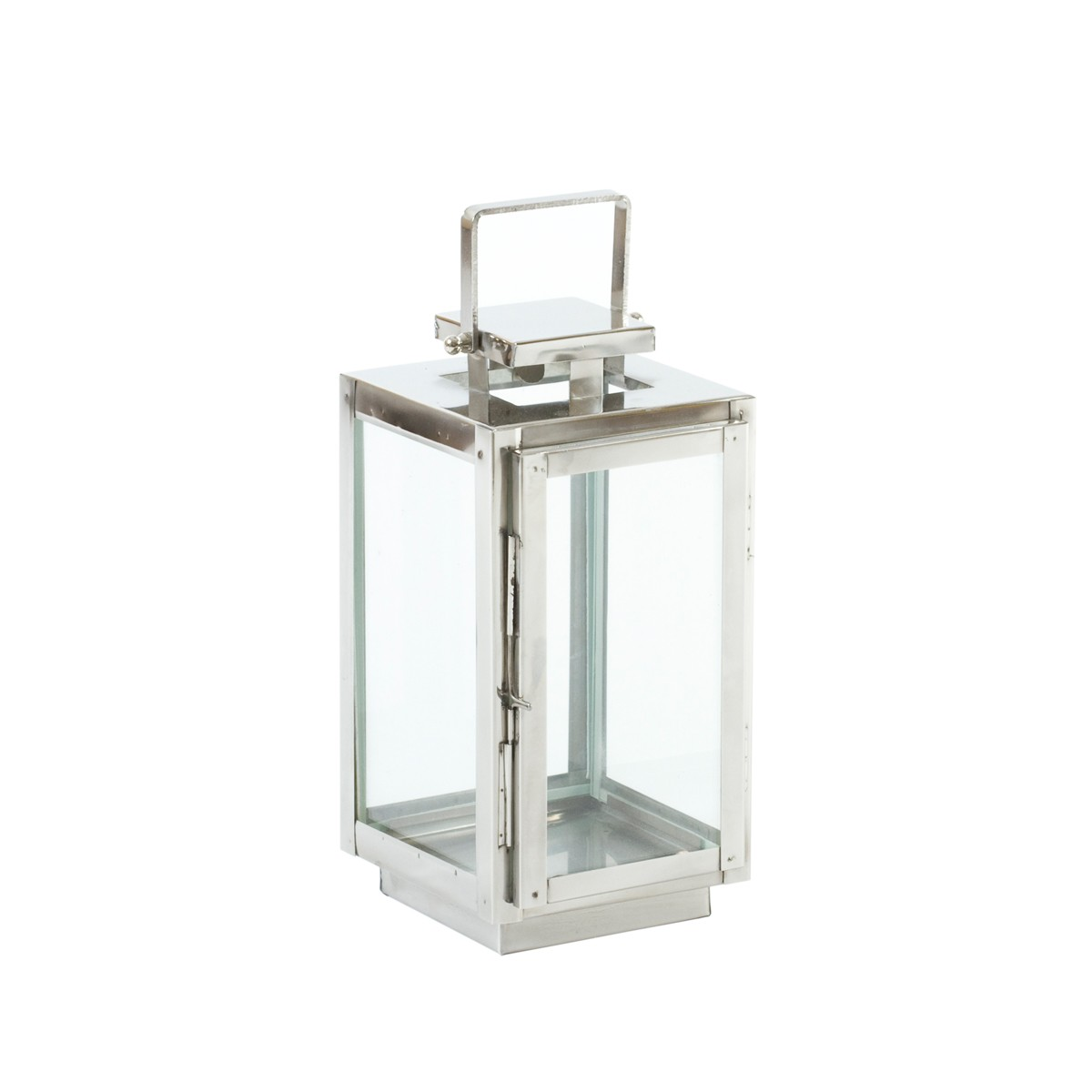Iris - Aluminium and Glass Candle Lantern