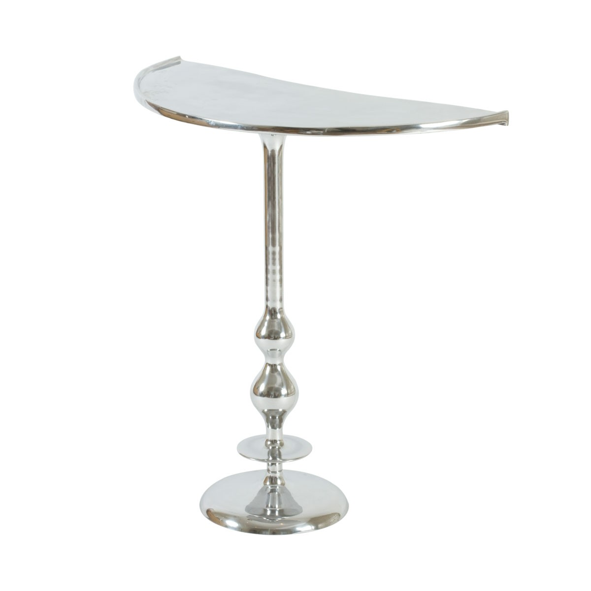 Veda  - Aluminium Half Moon Goblet Console Side Table or Occasional Table