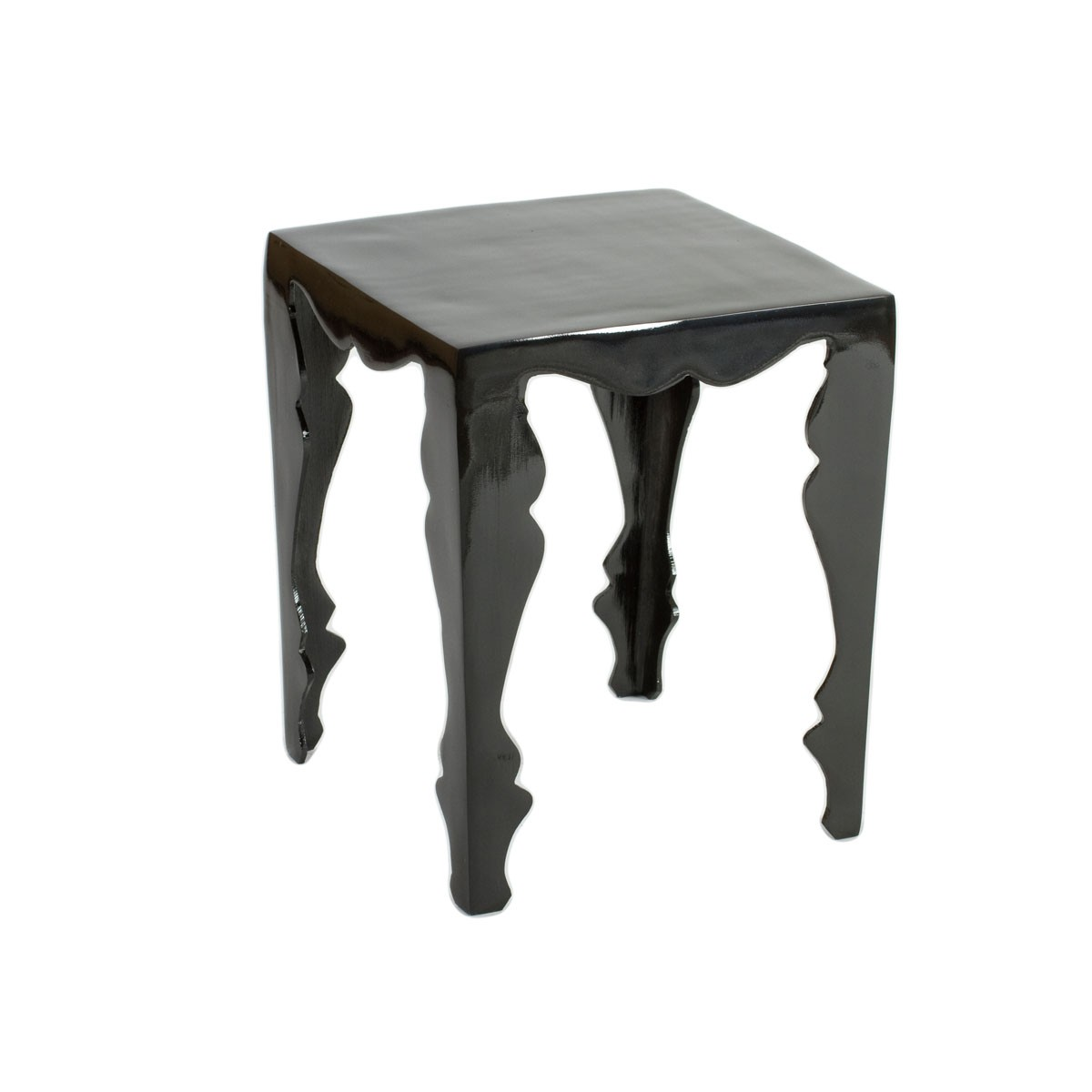 Aria - Louis Black Aluminium Side Table or Occasional Table