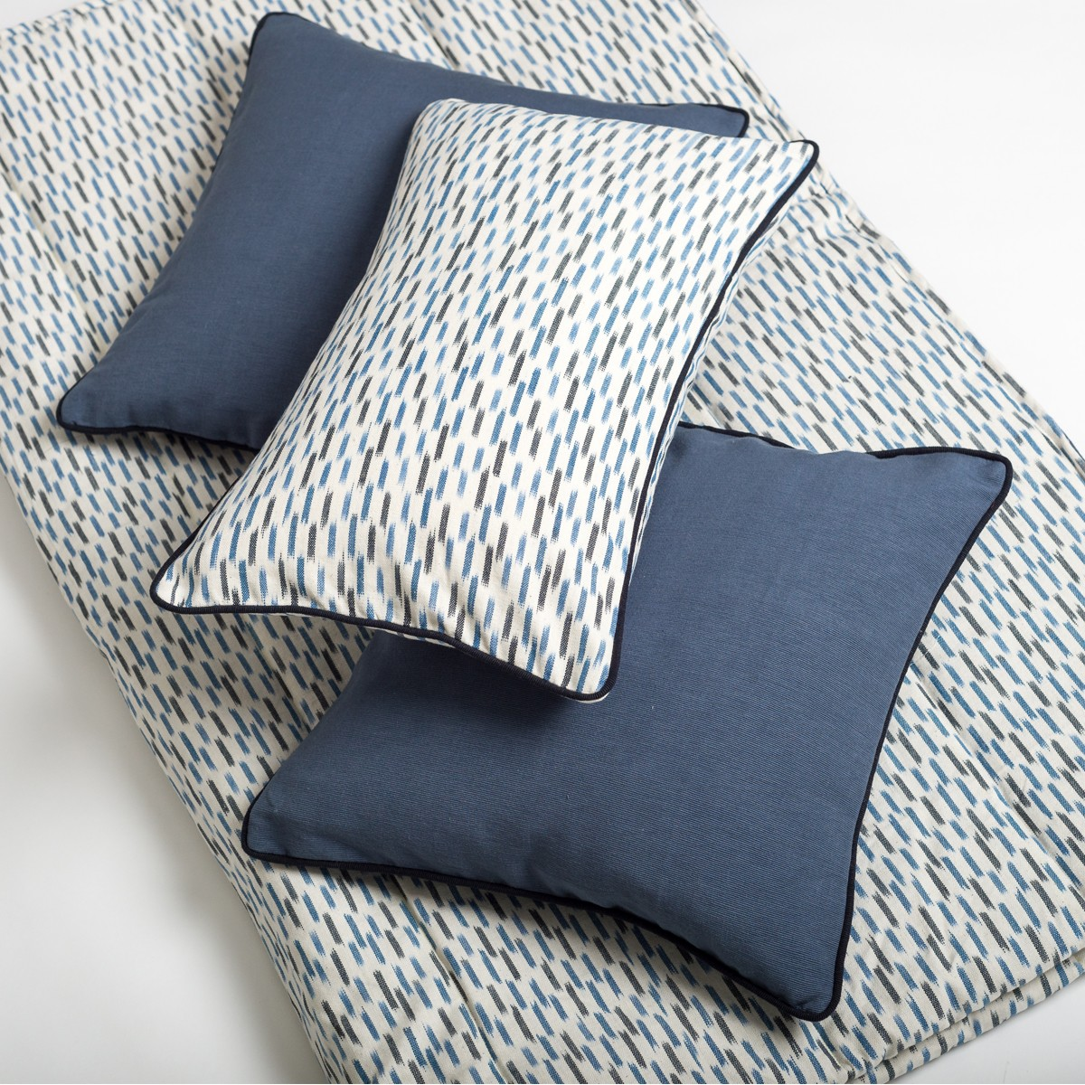 Aqua - Blue Cushion Set for Bedroom