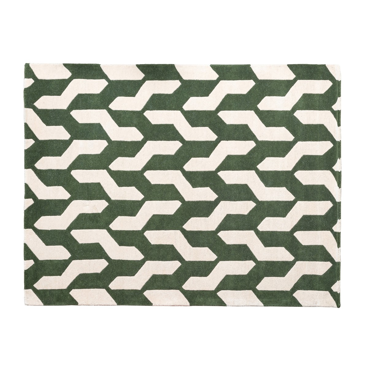 Nest - Green & Beige Cable Rug