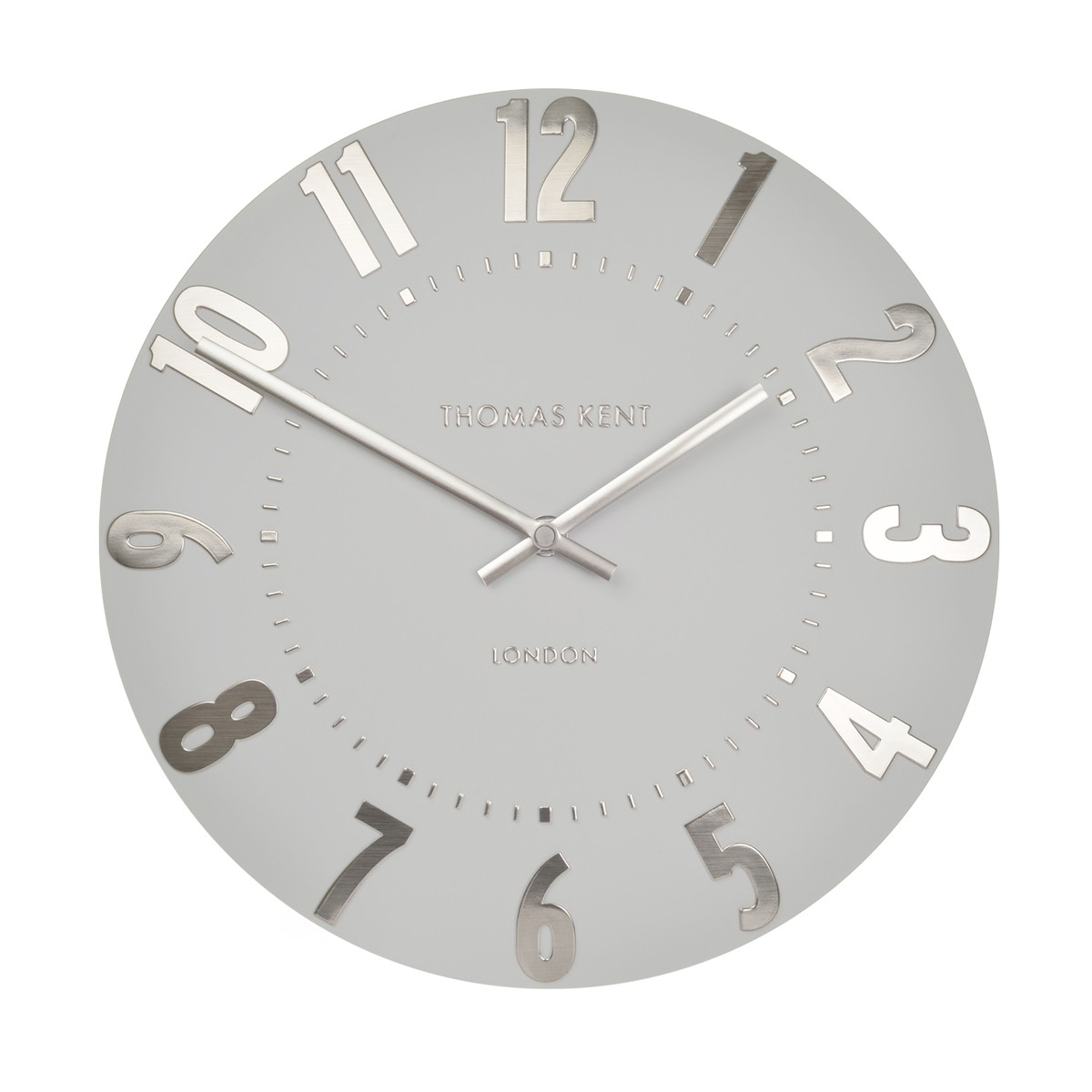 Alice - Silver Wall Clock