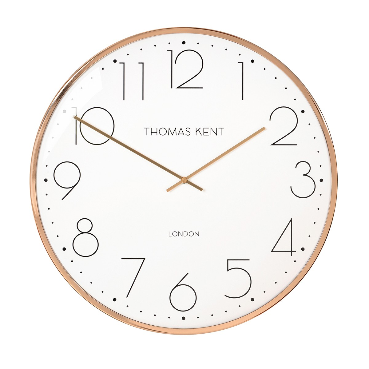 Copper Round Wall Clock