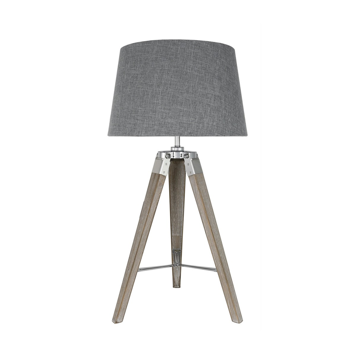 Kindle - Grey Tripod Table Lamp with Grey Shade