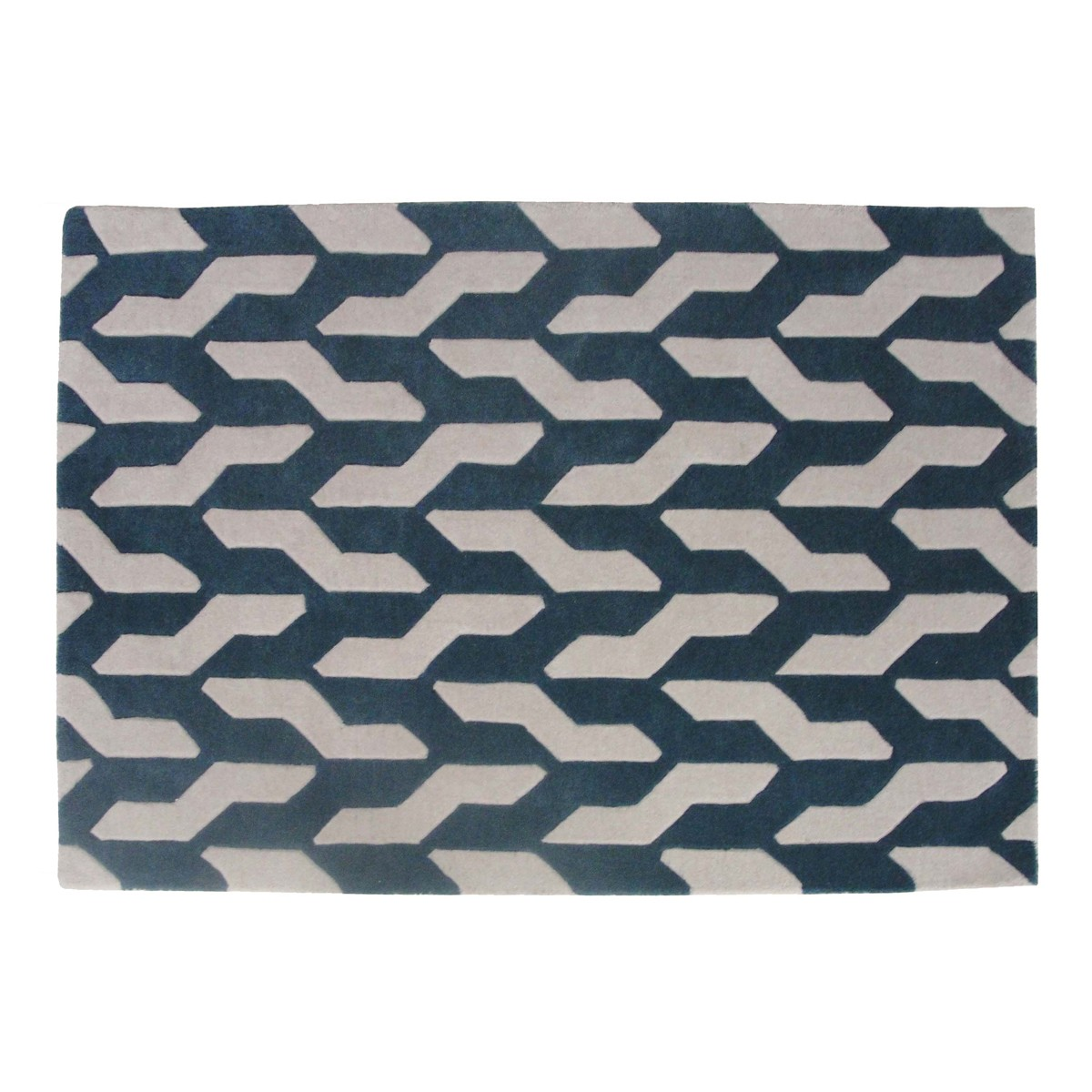Zigsaw - Cable Rug in Beige & Blue