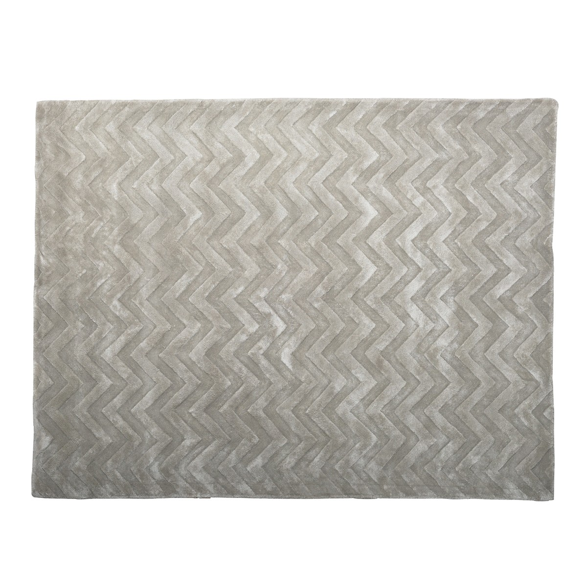 Chevron Grey Area Rug
