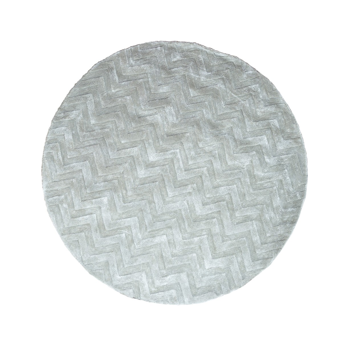 Round  Chevron Area Rug