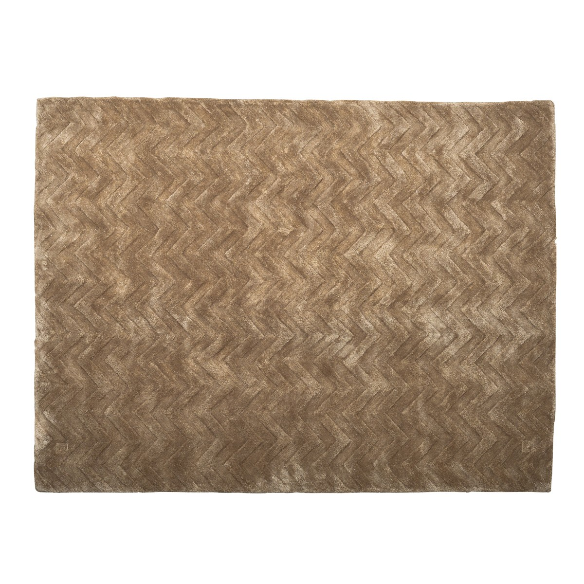 Cocoa -  Chevron Rug in Taupe