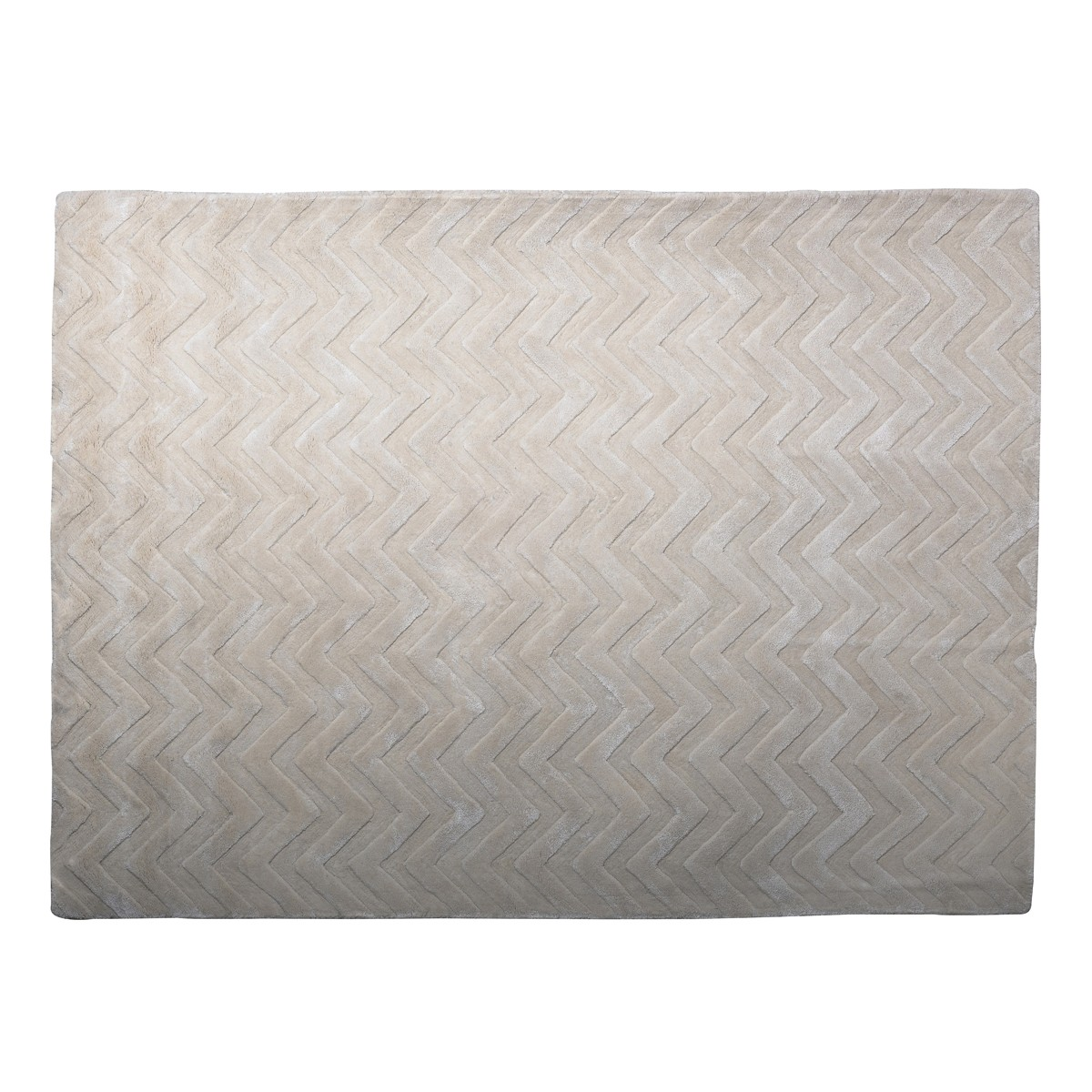 Pearl -Chevron  Rug in Ivory