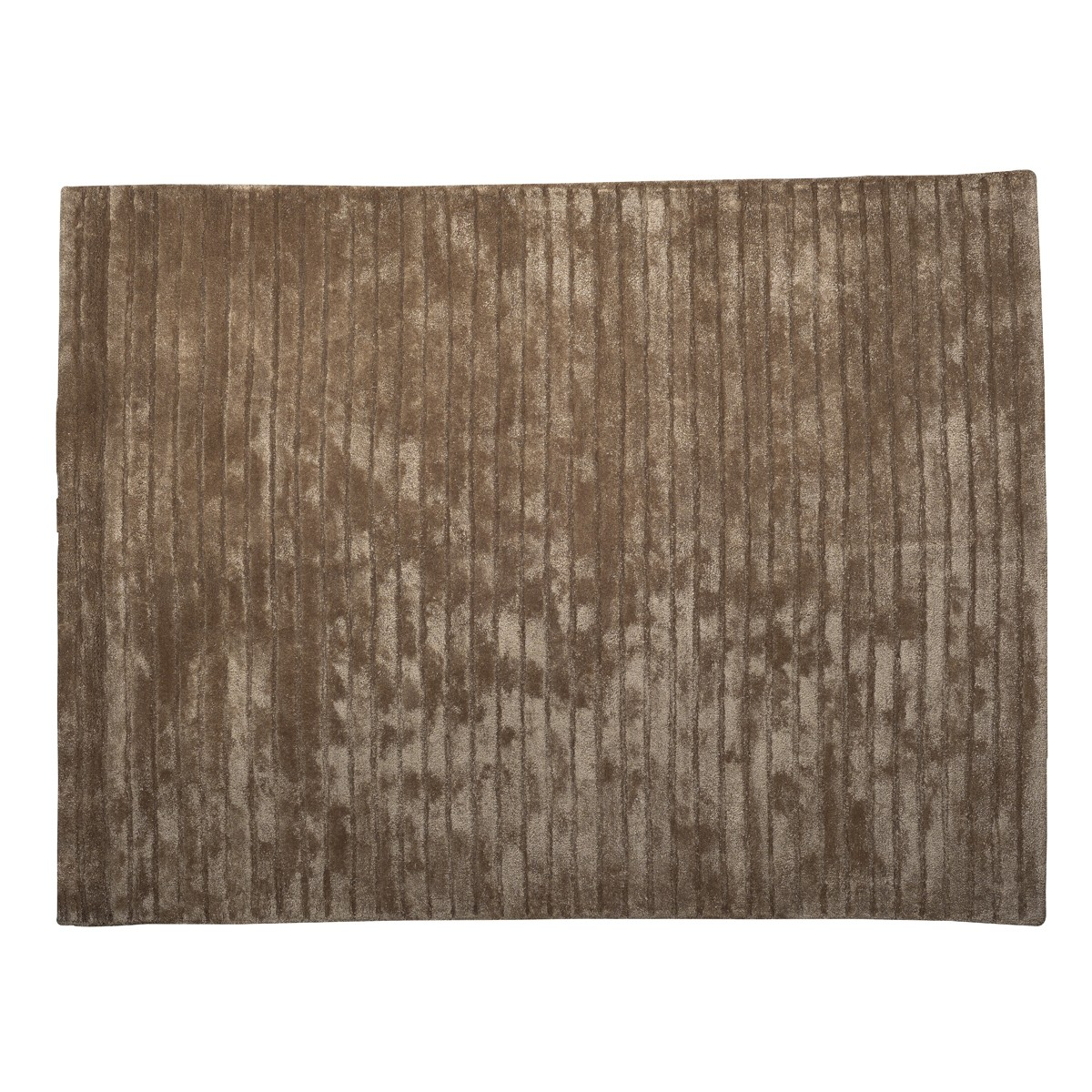 Bamboo - Large  Stripe Rug  in Taupe