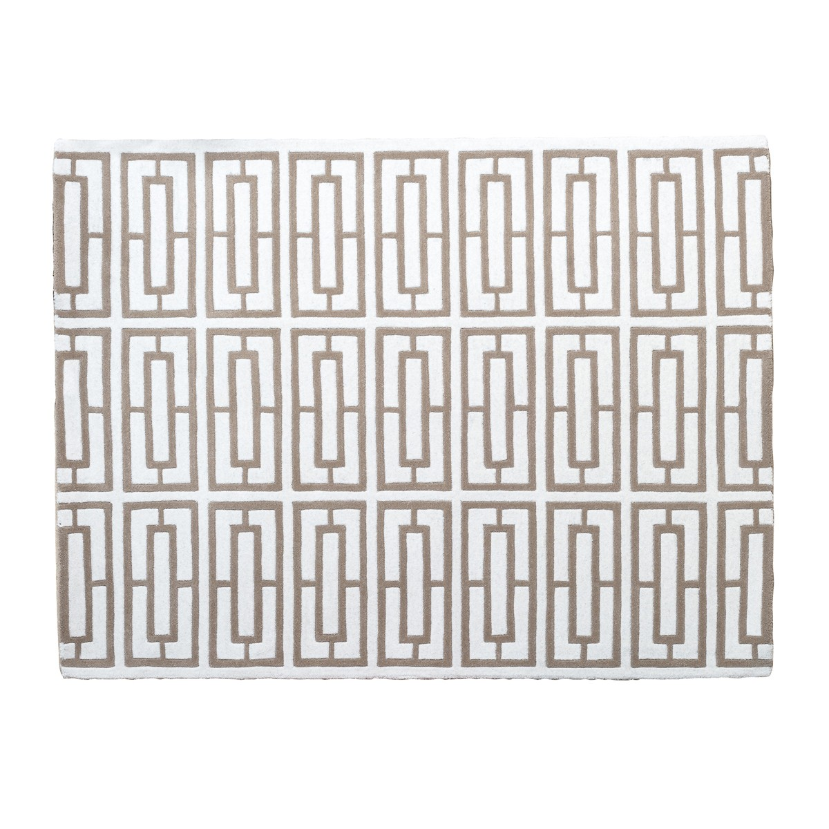 Maze -Trellis  Rug in Ivory & Taupe