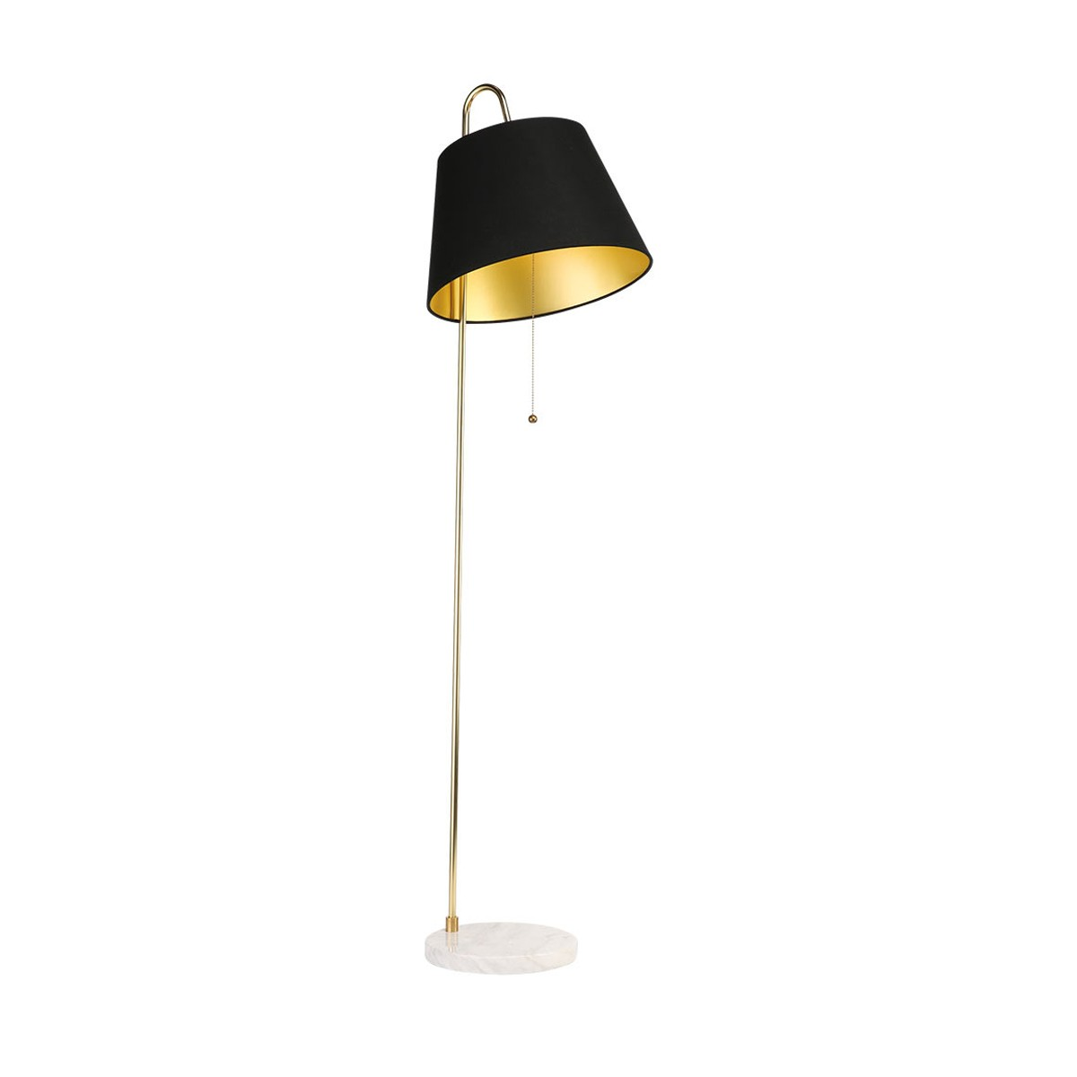 Luxor floor lamp with black shade