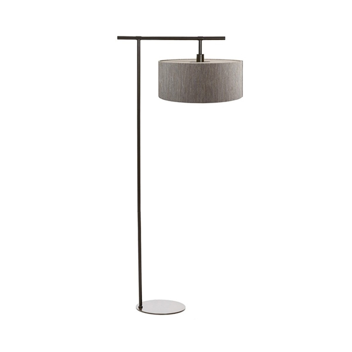 Street cylinder floor lamp with shade grey for Floor lamp with cylinder shade