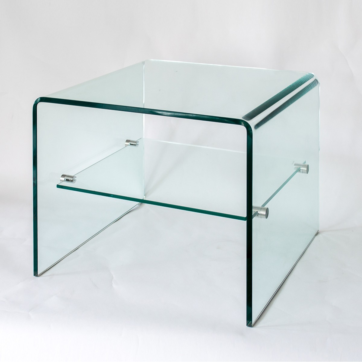 Fulham  - Glass Bedside Table or Occasional Table