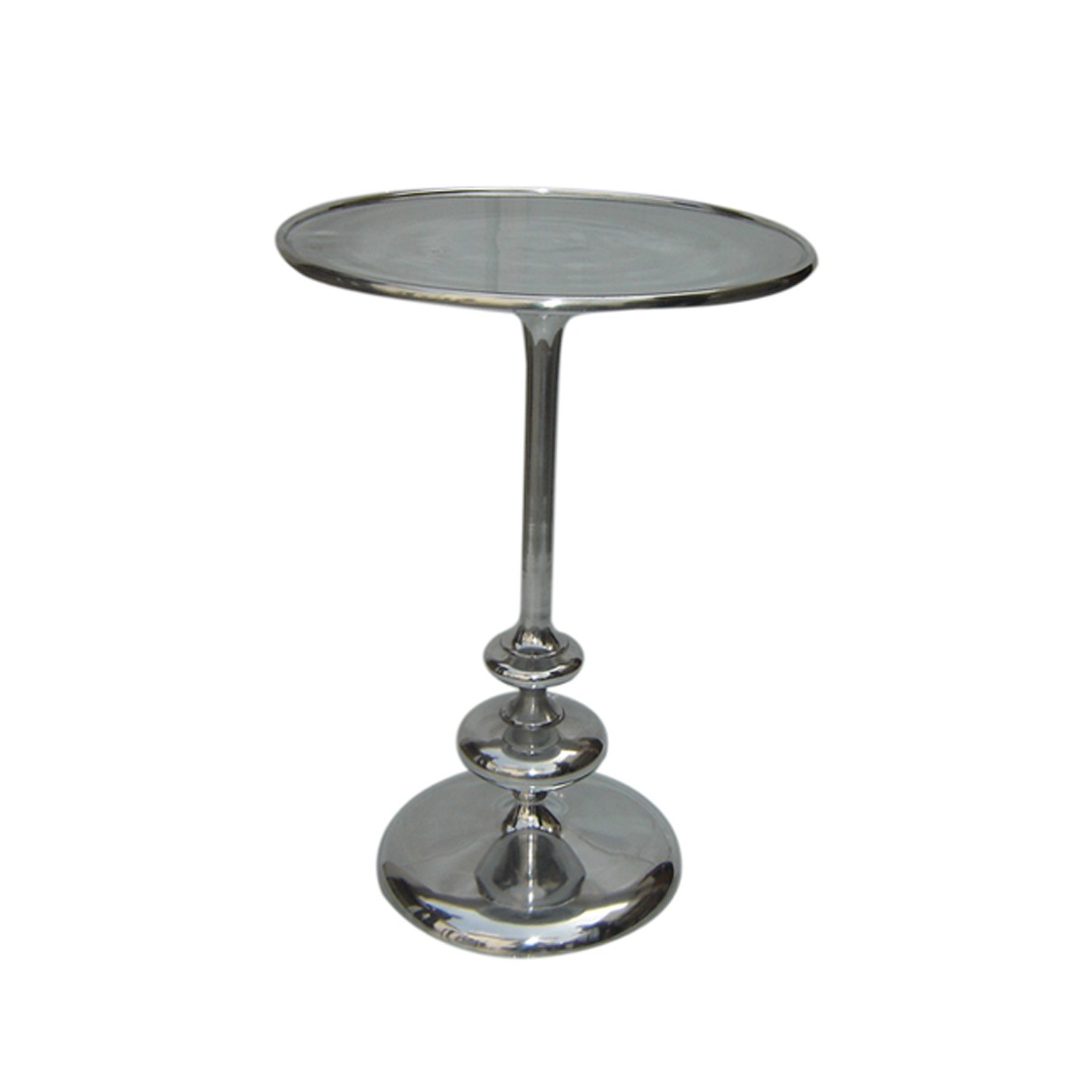 Silver Polished Goblet Aluminium Side Table