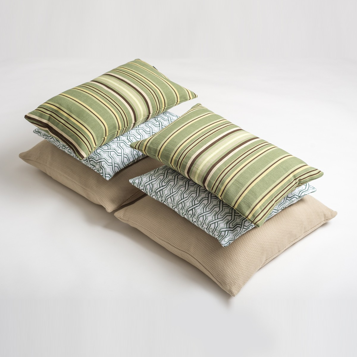 Green & Beige Living Room Cushion Cover Set
