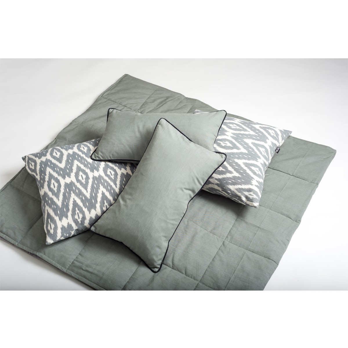 Mist Cushion Set for Bedroom - Grey