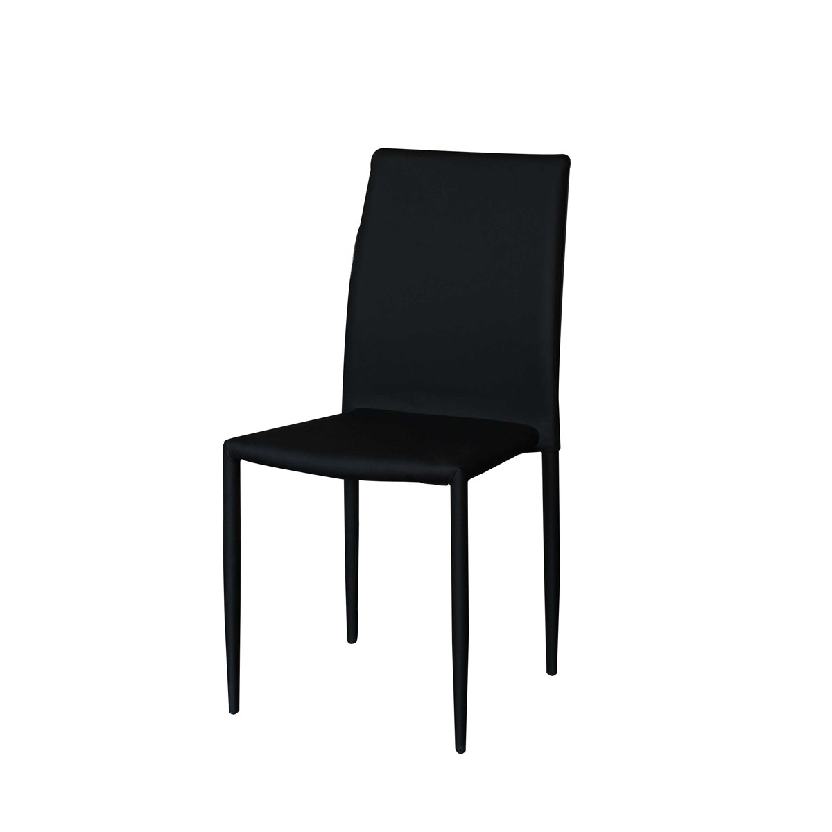 Jazz Black Contemporary Faux Leather Dining Chair