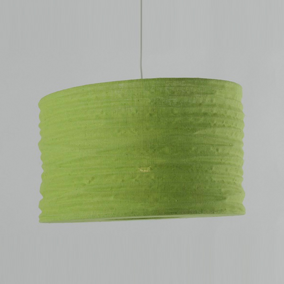 Lime Green Jute Ceiling Pendant Shade Dia: 35cm No Wiring Needed