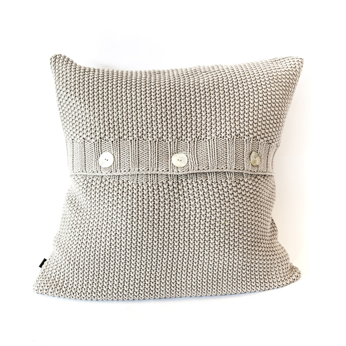 Grace - Moss Stitch Cushion Cover Stone