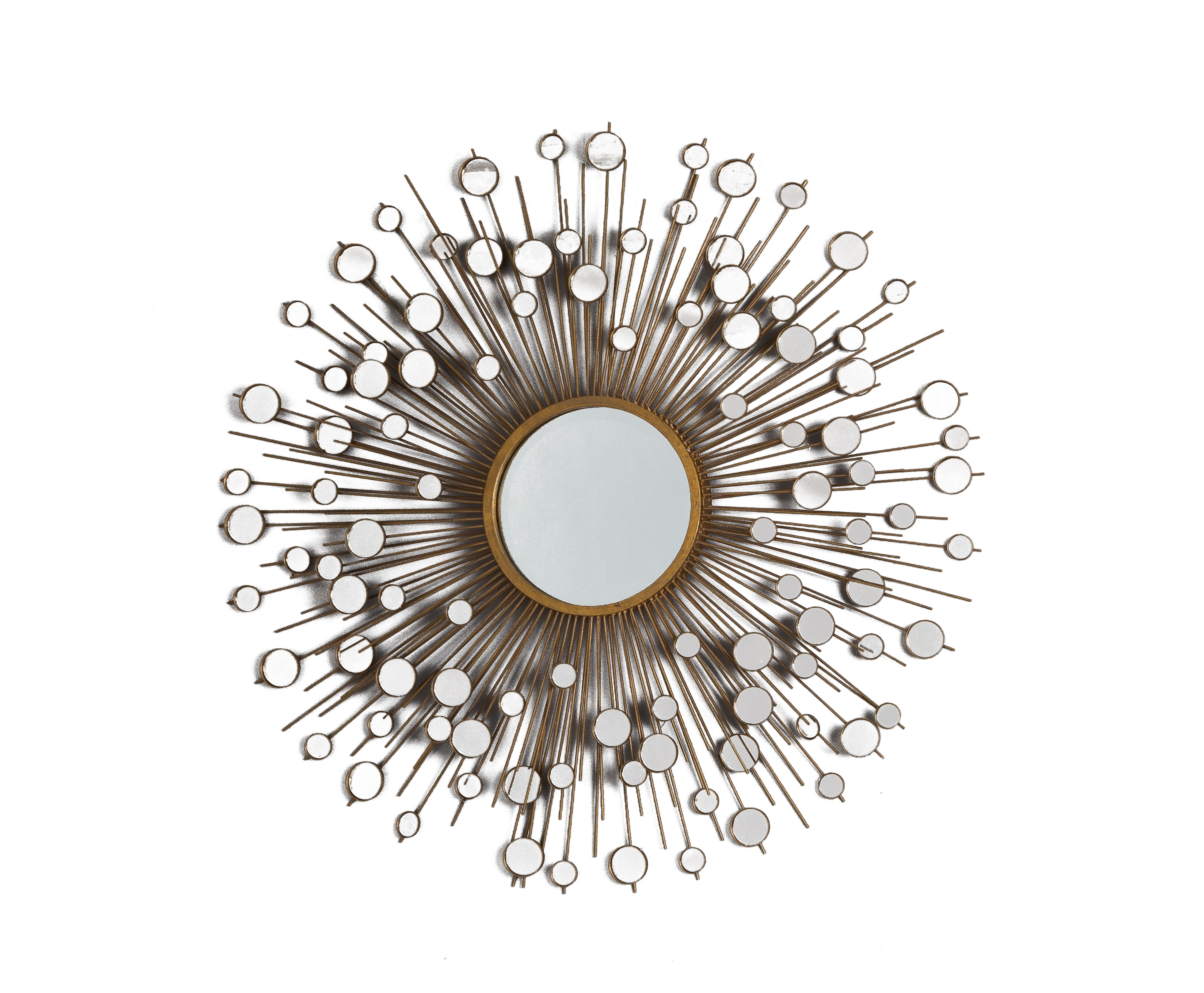 Peacock Round Decorative Wall Mirror