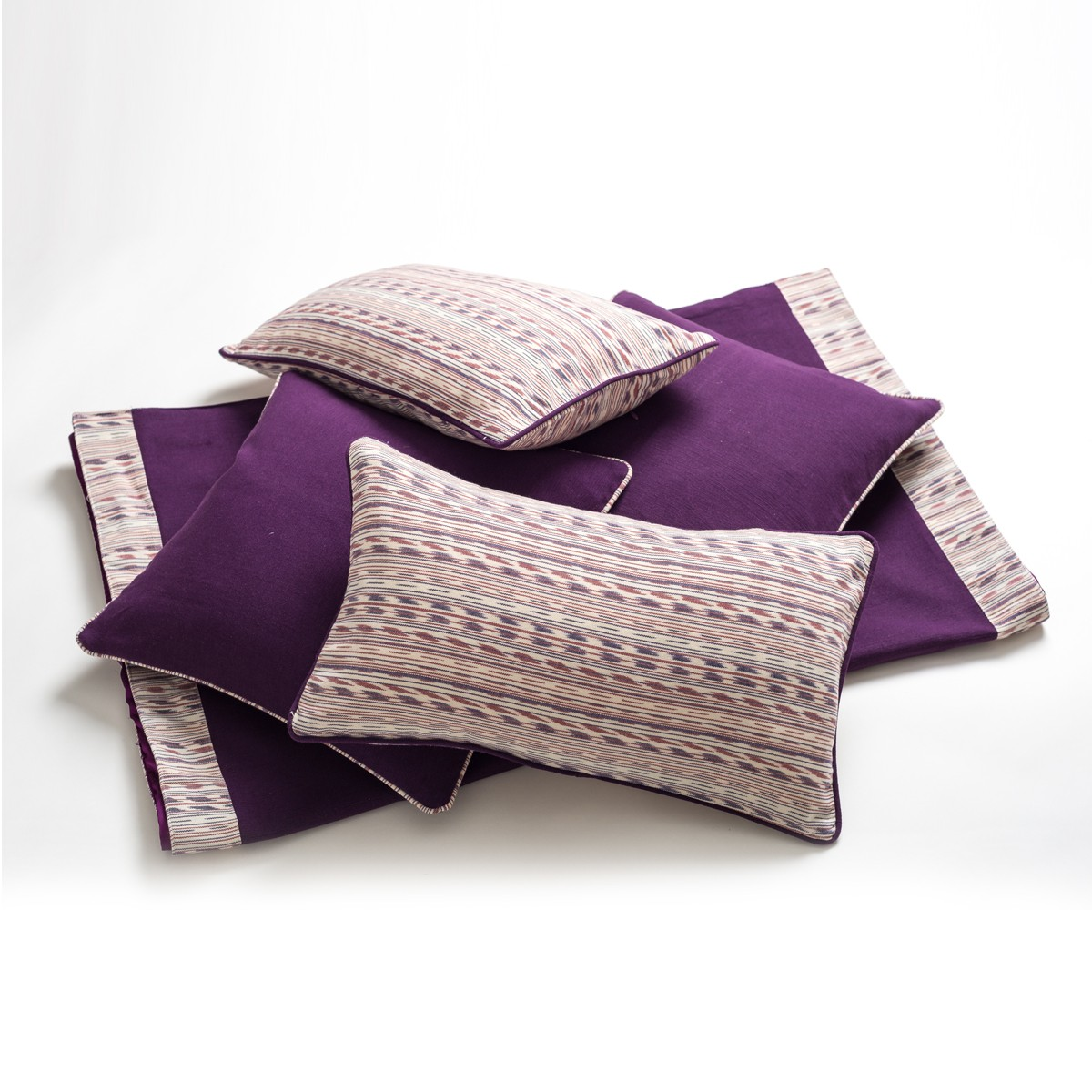 Chateau Bedroom Cushion Cover  Set - Purple