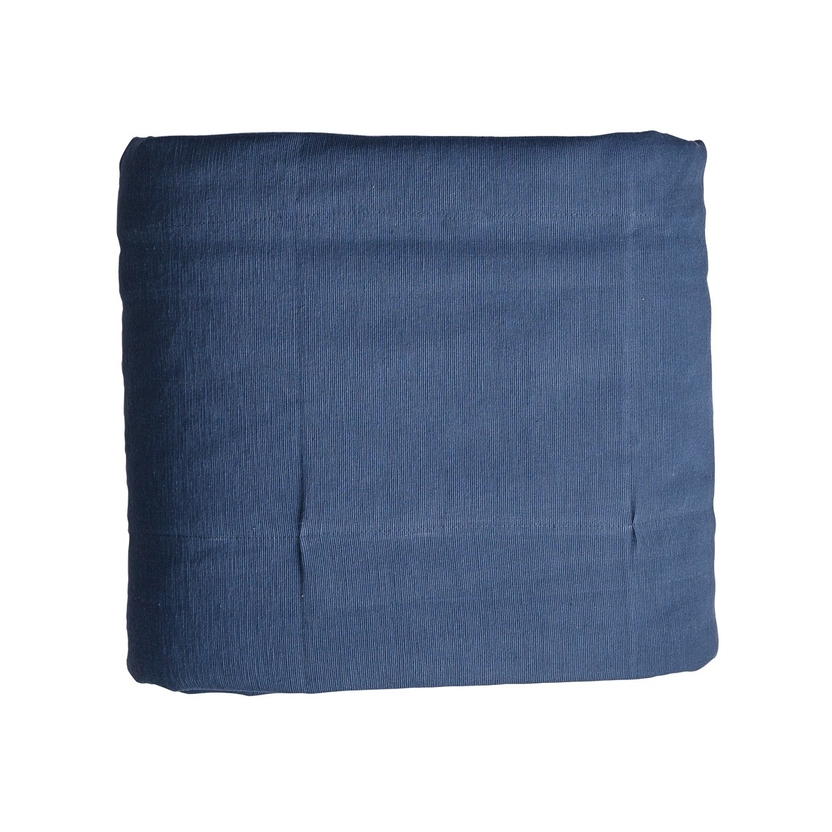 Single blue reversible padded wide panel throw