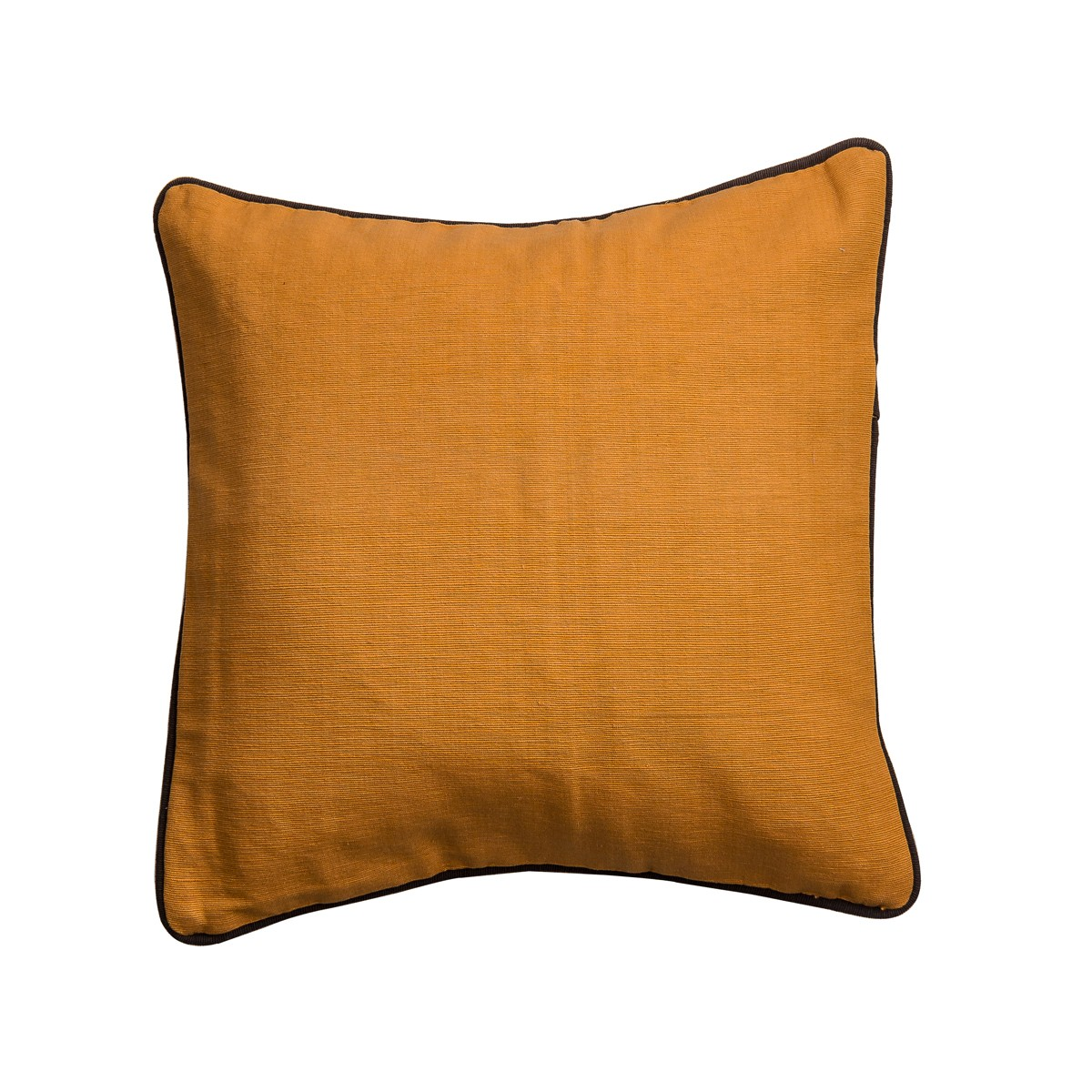 Single Square Orange Cushion Cover with Piping
