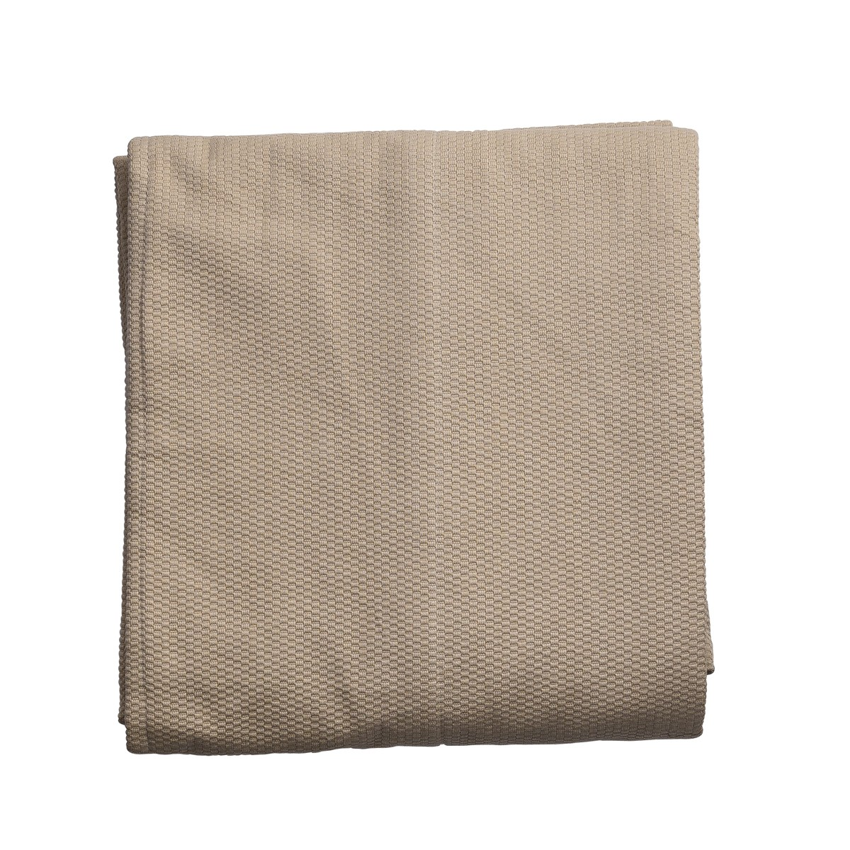 Single Beige panel throw