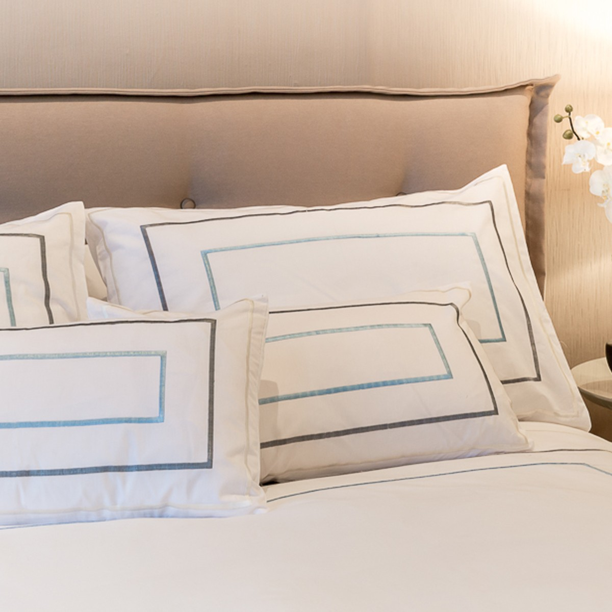 Dove - Thick Sateen Stitch Bodouir Pillow Case