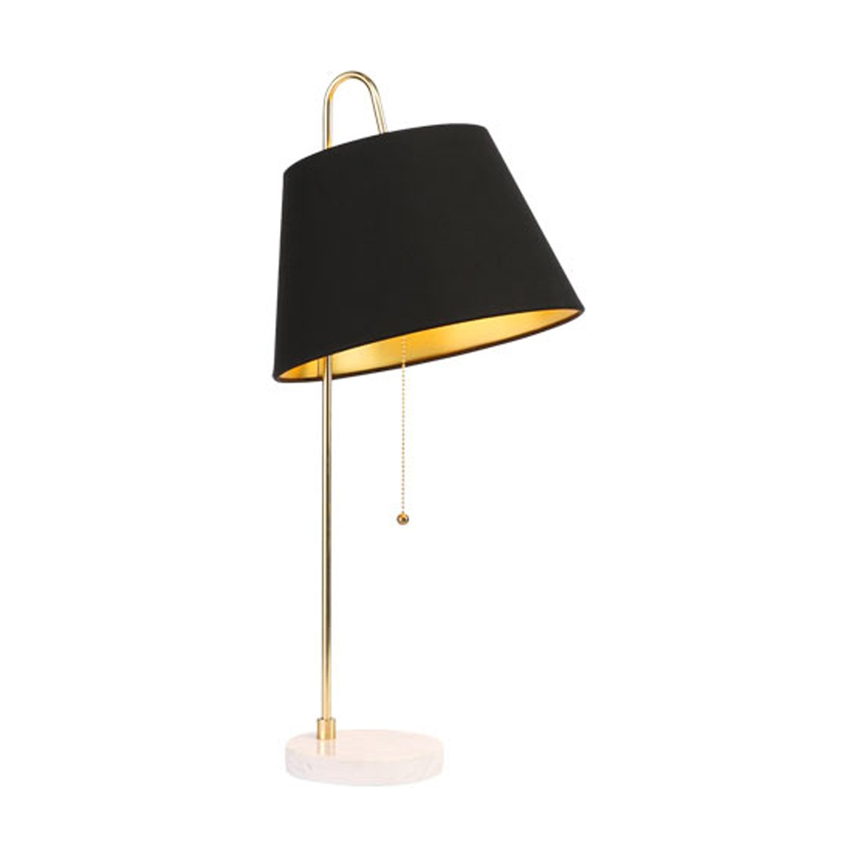 Luxor Gold Table Lamp with Black Shade