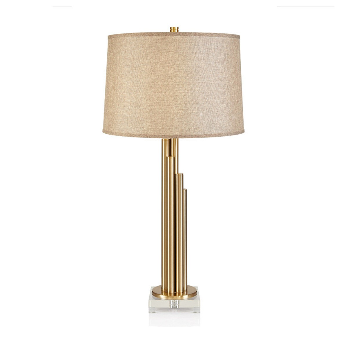 Symphony - Natural Brass Finish Table Lamp with Shade