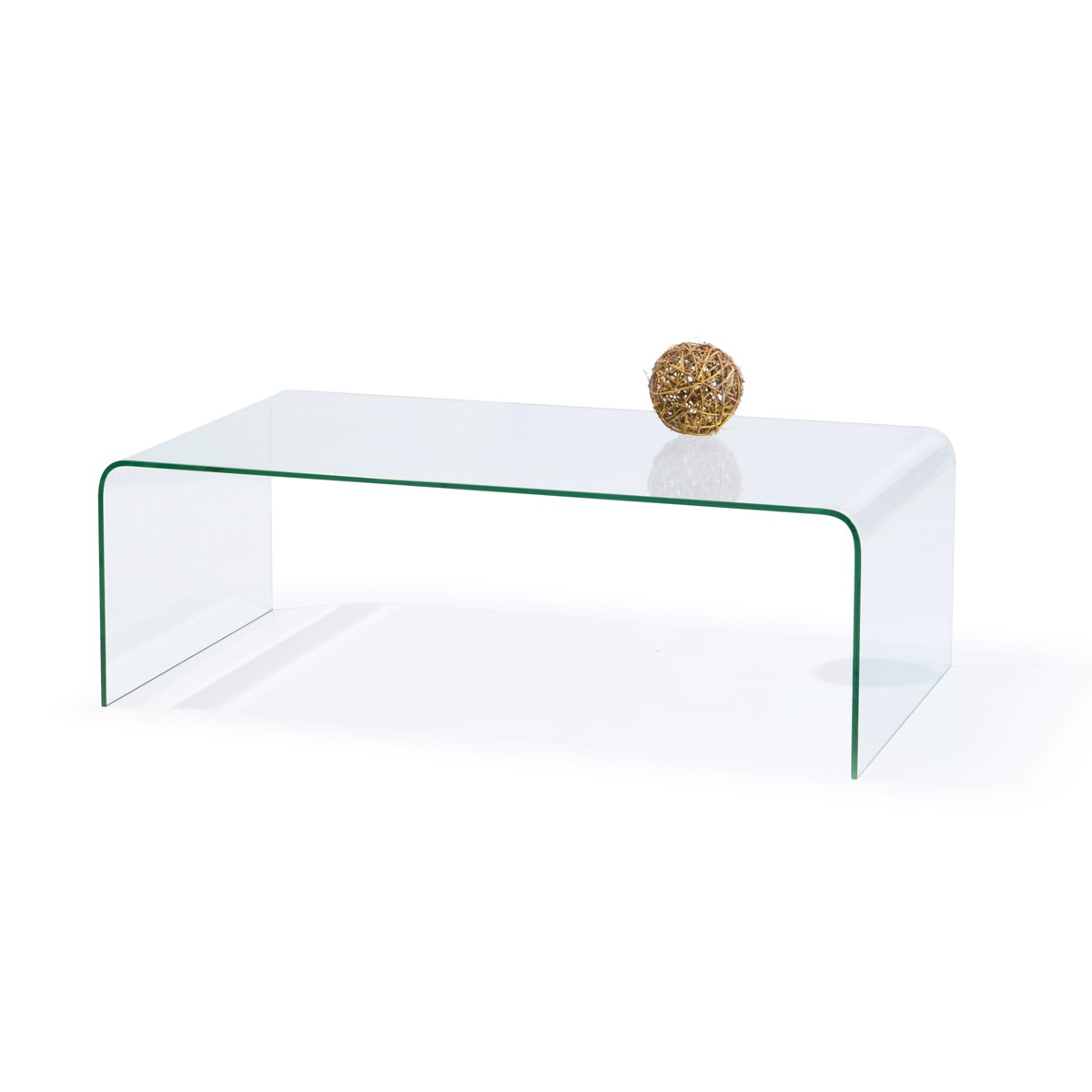 Crystalline - Coffee Table with Square Clear Glass